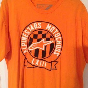 Alpinestars Shirts - Size Xl Alpine Star orange tshirt!